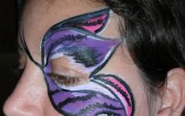 ציור פנים-פרפר