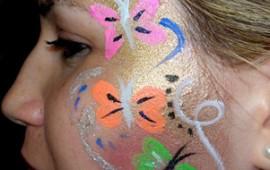 ציור פנים-פרפרים