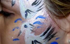 ציור פנים-ברבורים