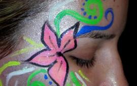 ציור פנים-פרח