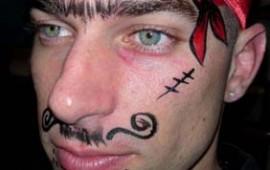 ציור פנים-שודד ים