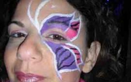 ציור פנים -פרפר